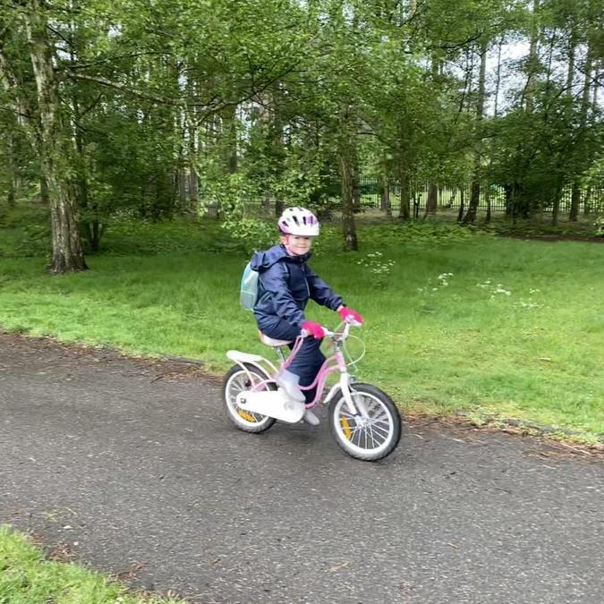 Alexa went cycling!