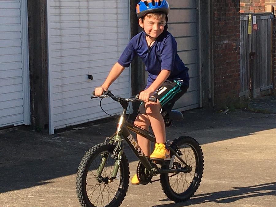 William rode his bike.