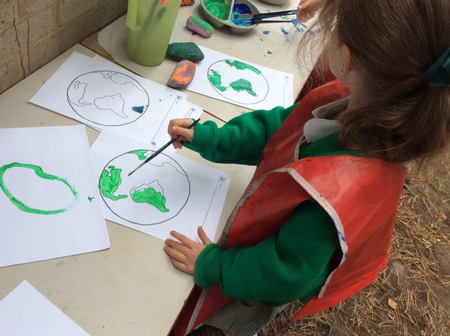 Maple class painting the Earth!