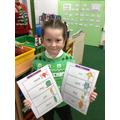 11.12.20 - For using her phonics skills read lots of alien words
