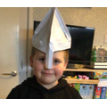 Oliver's Norman Soldier Helmet!