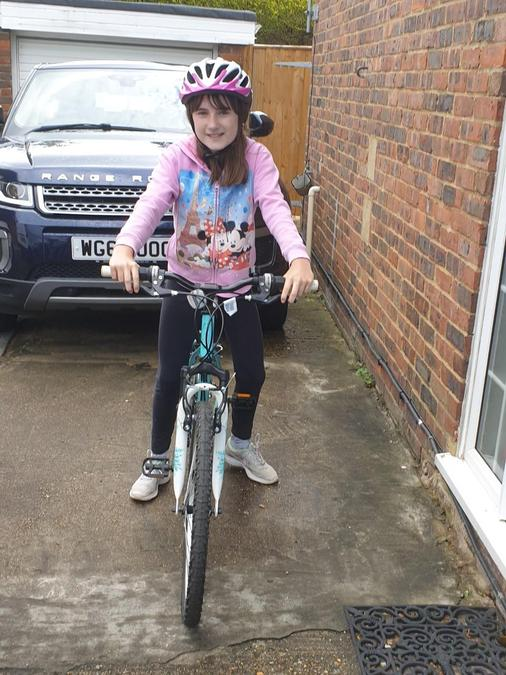 Becca went cycling.