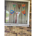 Bunting by Bethany and her brother.