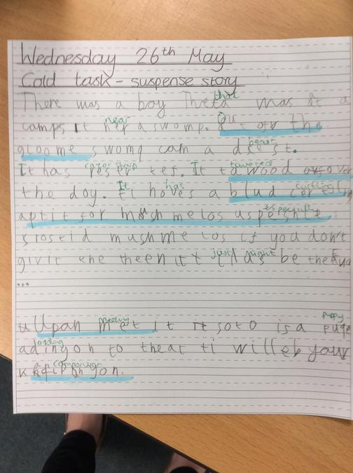 28th May - Keiren is our STAR for his excellent language choices!
