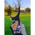 Gymnastics in the park
