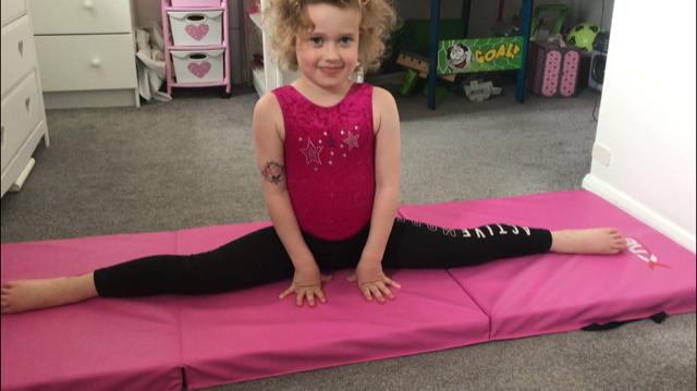 Hope did gymnastics moves.