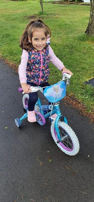 Vivien rode her bike.