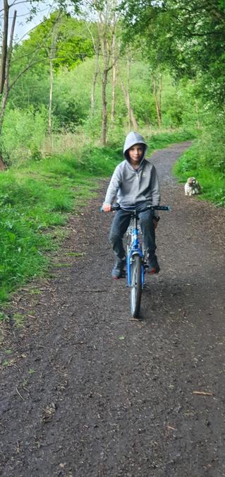 Gabriel went for a bike ride.