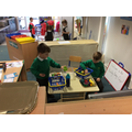 Playing in our Healthy Eating Cafe