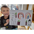 Harry's brilliant picture shows our school values.