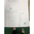 Thomas used base ten to help him with column addition - fantastic work Thomas!