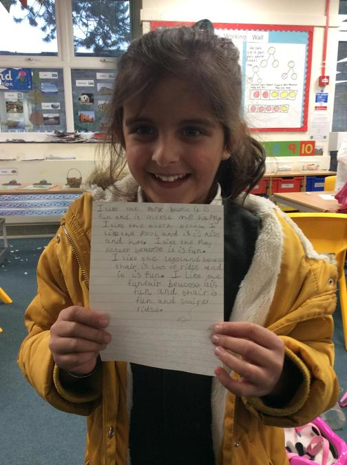 Aria got Star of the Week for her incredible independent writing!