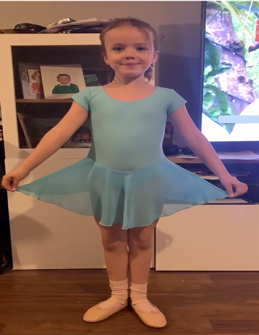 Lillie completed ballet moves.