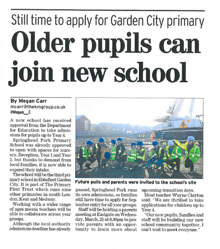 Article in Gravesend Messenger 12.3.20