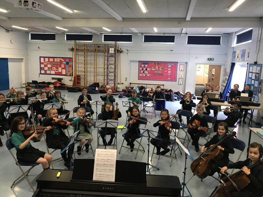 School Orchestra in rehearsal!