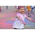 Children in Year 1 celebrating Holi