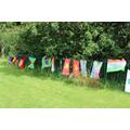Flags reflect nationalities of children in school