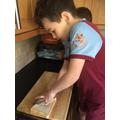 Max making his sandwich!