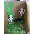 Puppets and set made by Lewis