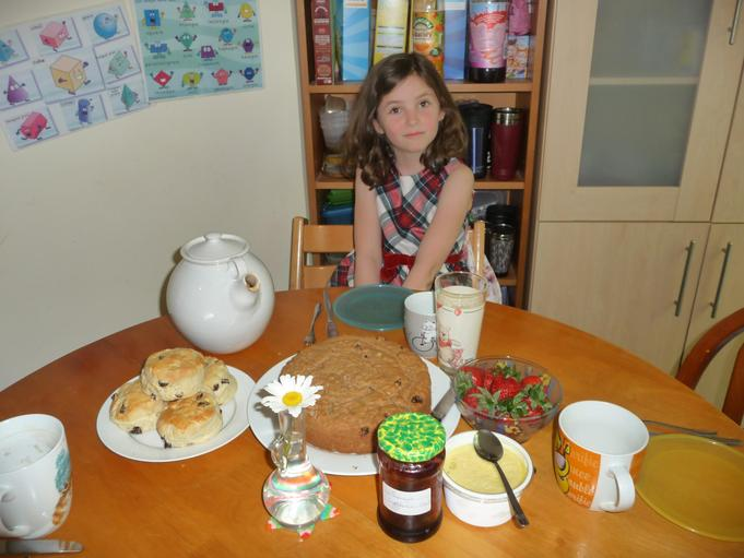 Scones and a war-time egg-less sponge cake