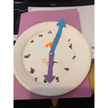 Great clock making Evie.