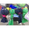 Charlie's sock puppets