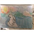 Polar bear artwork by James