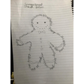 Mary's great Gingerbread man shape poem
