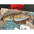 Fish mosaic created by year 4 pupils at Cherry Orchard Primary School