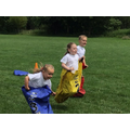 Reception class sack race at Cherry Orchard Primary School