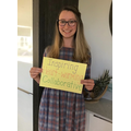 Three words to describe Chloe's first half term of her teaching career