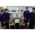 Proud pupils with their final product