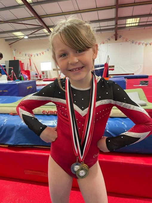 County Gold, Silver and Bronze Medallist Winning Gymnast (Cambridge Gymnast Academy