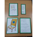 Pupils wrote poems about what the chair symbolised