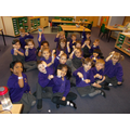 Year 1 made wrist bands