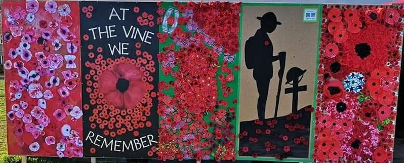 Cambourne Church Remembrance - displays by Schools