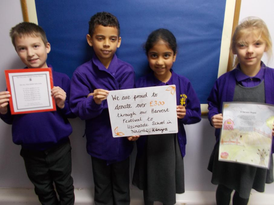 We have sent some of our harvest festival donations to help Uzimatele School.