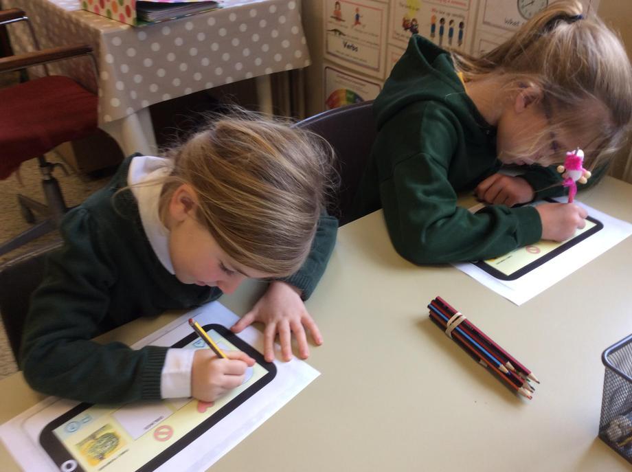 The children designed their own online profiles.