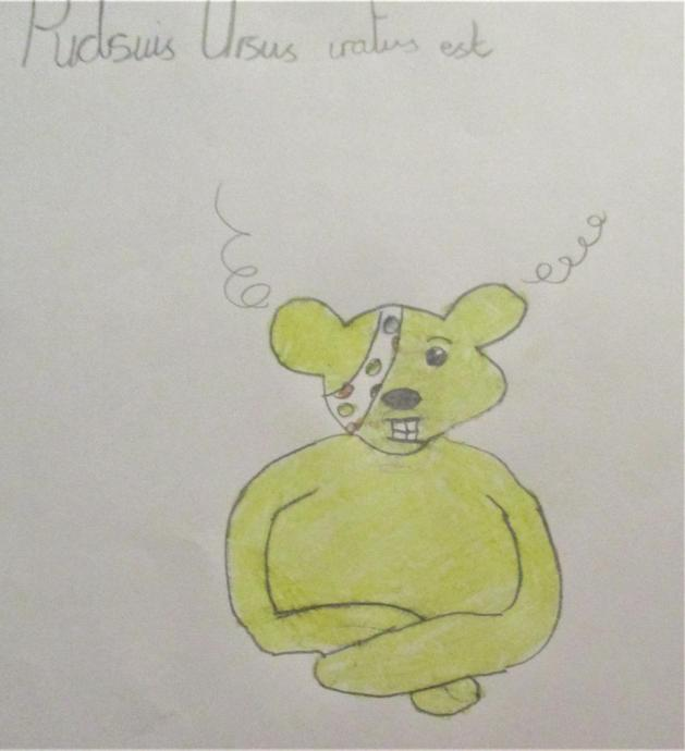 Pudsey Bear is angry.