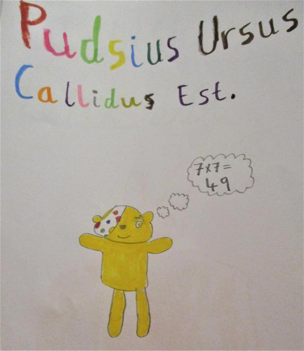 Pudsey Bear is clever.