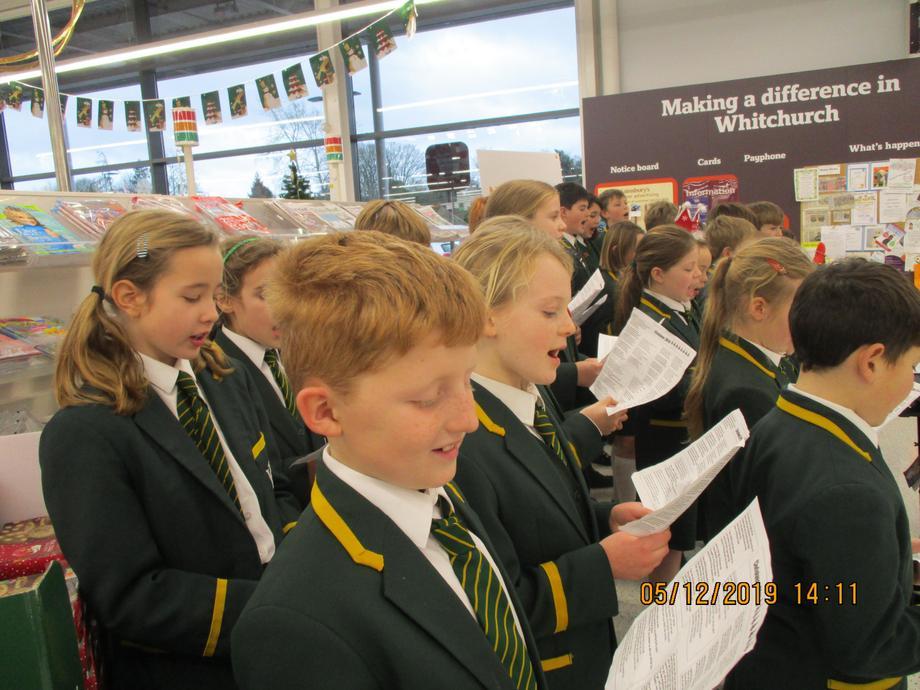 Singing carols in Sainsbury's
