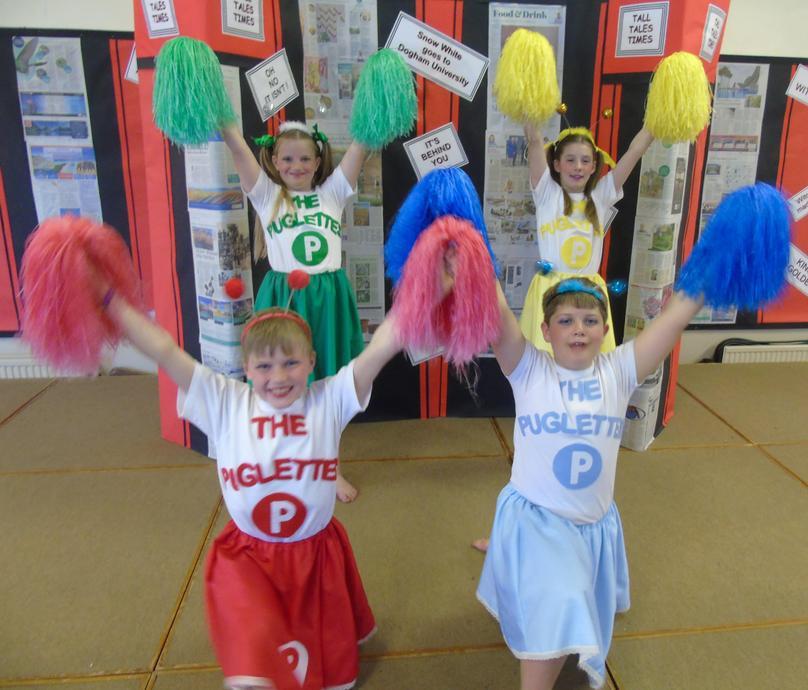 The Puglettes Cheerleading Team