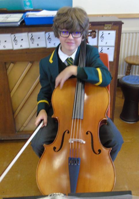 School musicians play the hymn