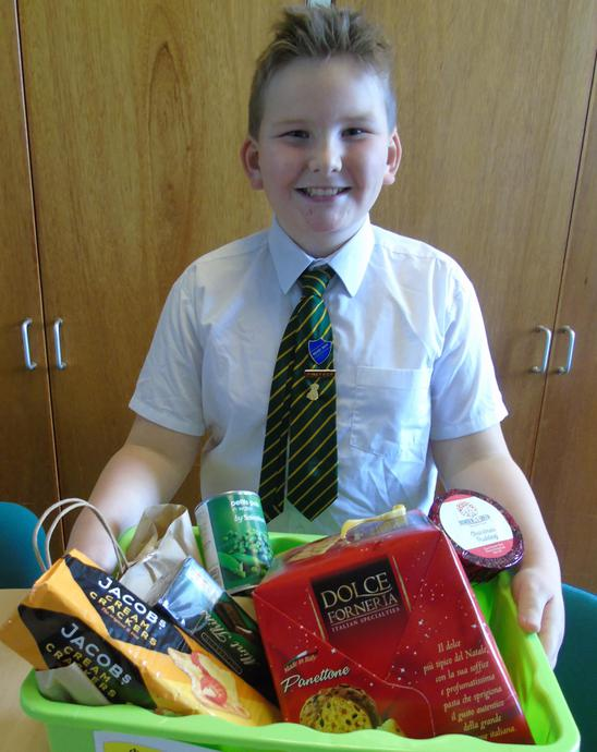 Collecting for the Food Bank after Christmas