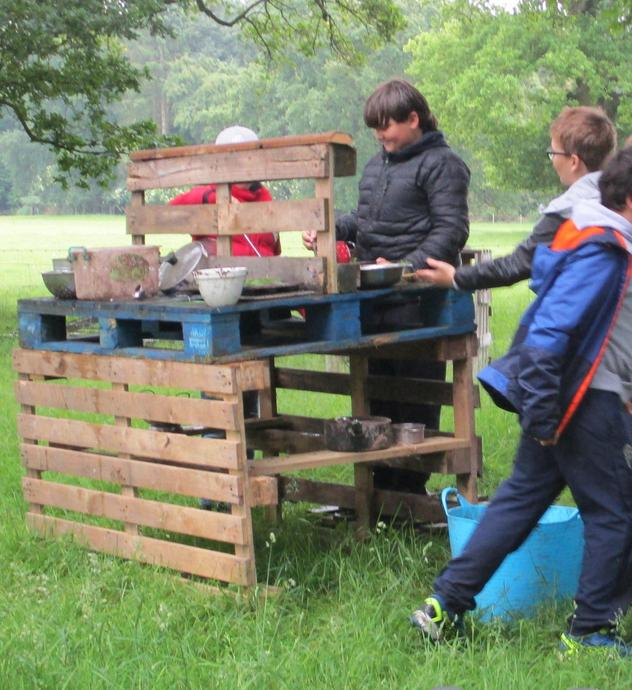 The mud kitchen was a fantastic place to make some amazing creations!