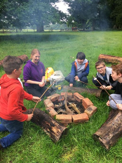 Toasting our marshmallows...