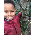 Forest School - making clay faces