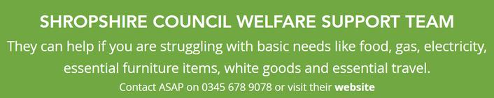 Shropshire Council welfare suppport