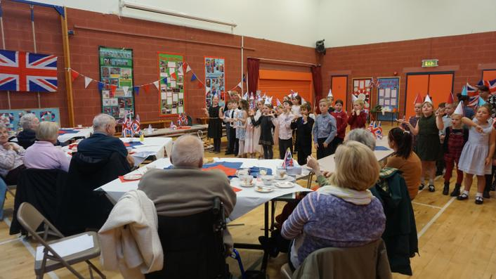 Tea Party involving Uplands Nursing Home