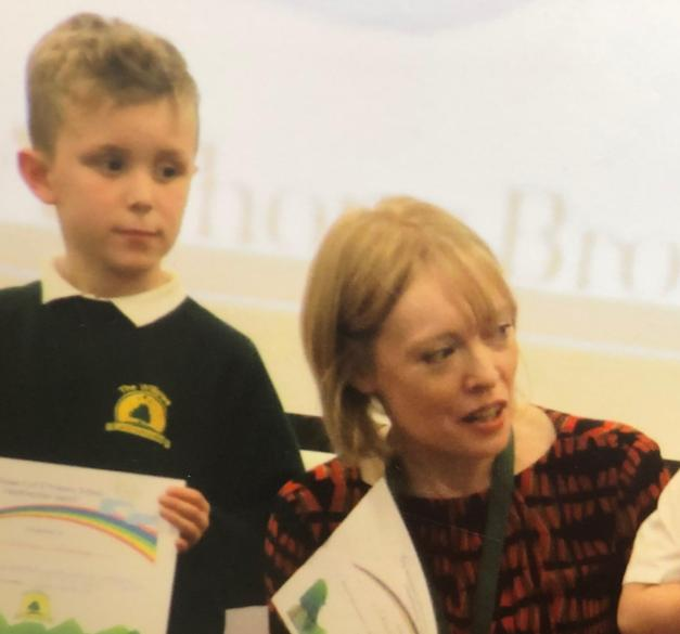 The weekly headteacher's award assembly